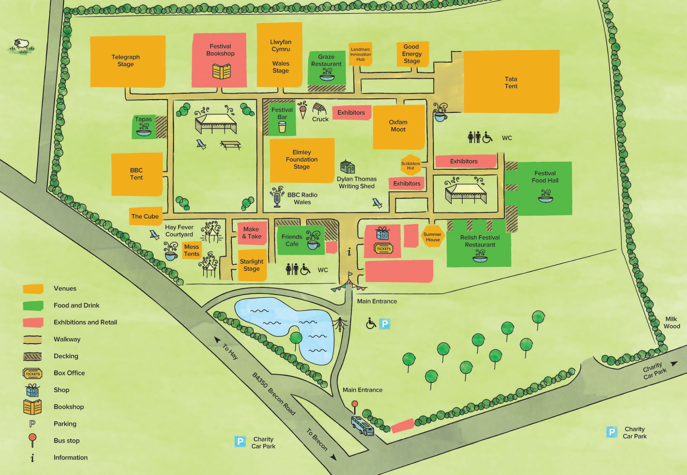 Hay Festival Site Map